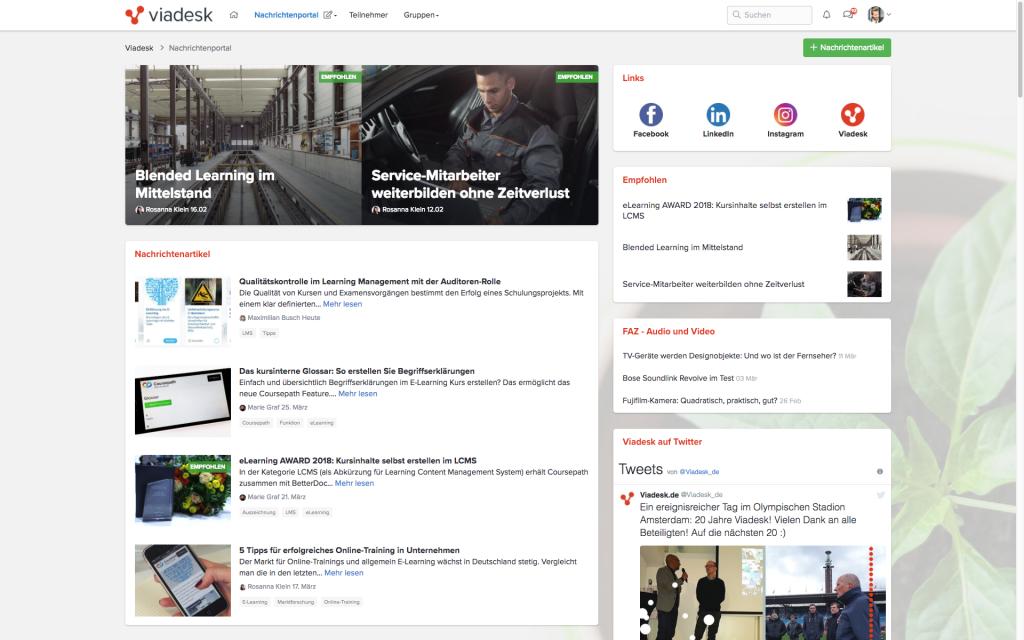 Viadesk Nachrichten- Portal