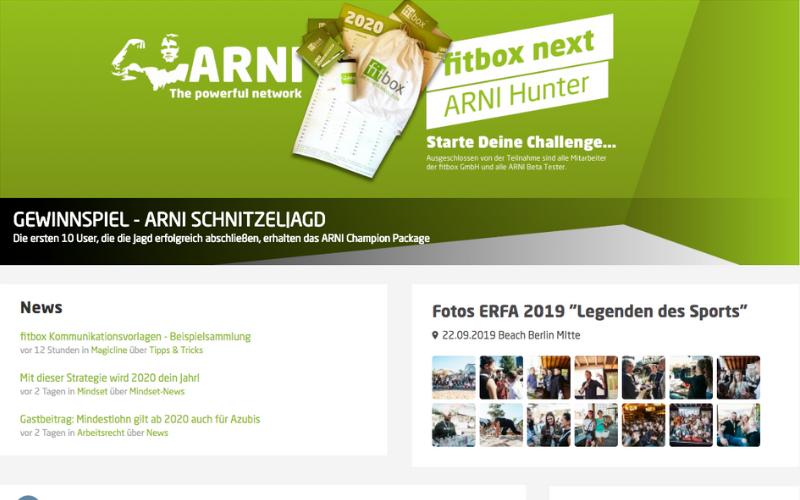 Fitbox Intranet Arni Startseite