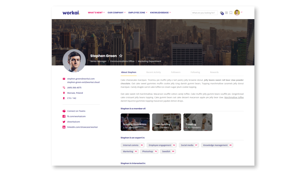 Profile_Intranet