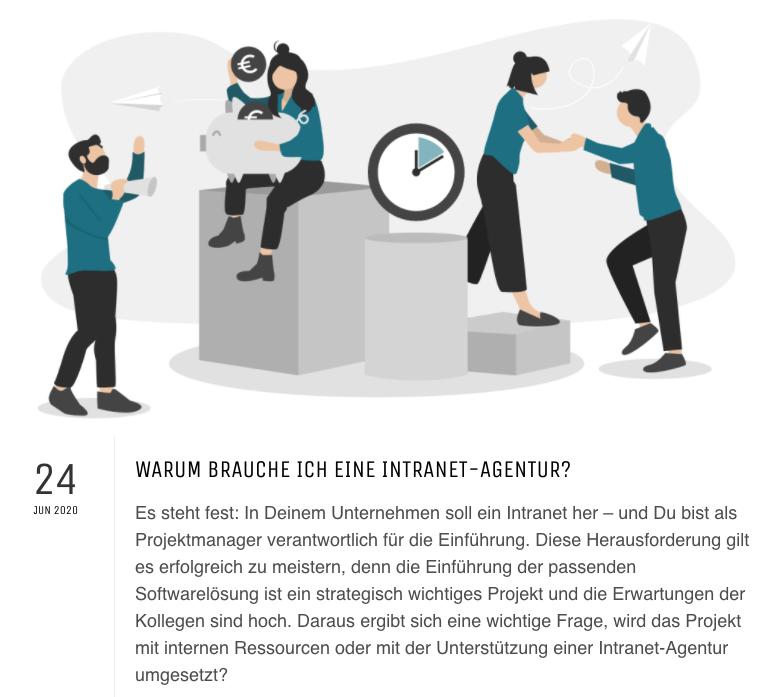 Blog Artikel - wann mit einer intranet agentur arbeiten