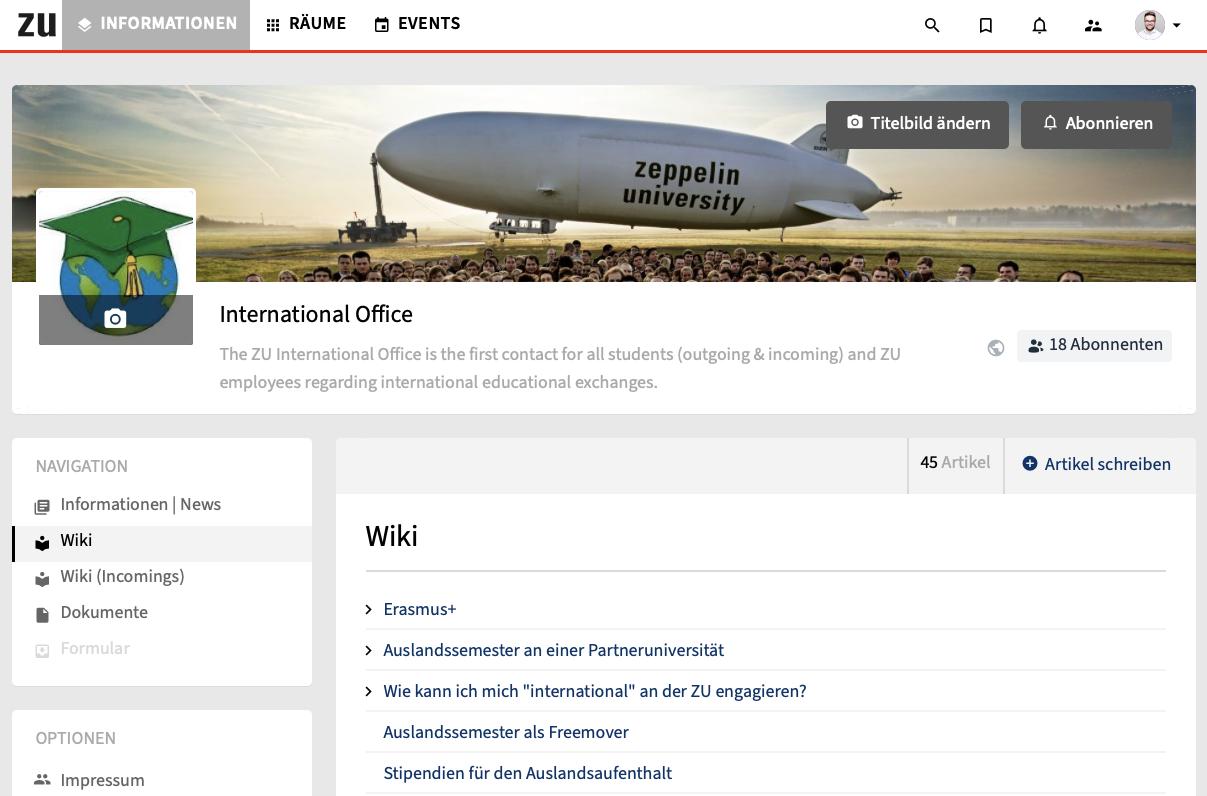 Zeppelin Universität Intranet Wiki