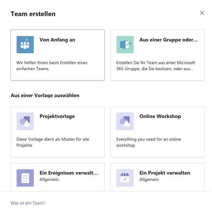 Templates in Microsoft Teams